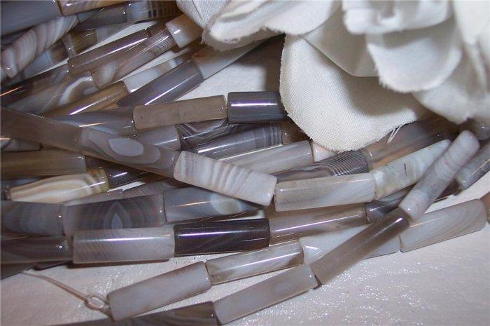 BOTSWANA AGATE  Tube Beads  6x18mm