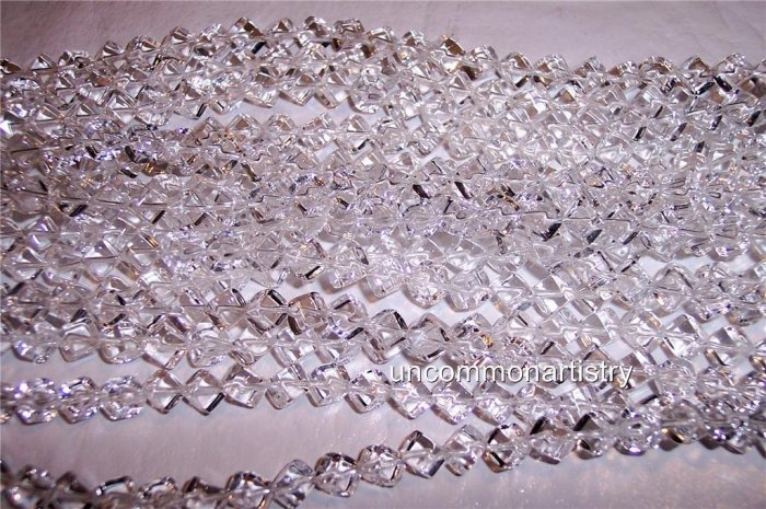 CRYSTAL CLEAR Quartz 4mm Cube Beads SIDE-DRILLED