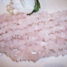 "ROSE QUARTZ Chips 36"" strand"
