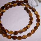 TIGER EYE Flat Teardrop Beads