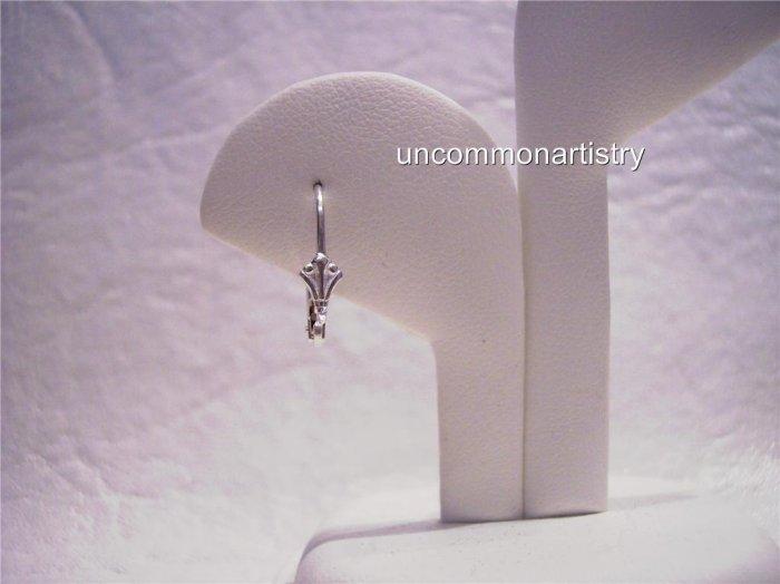 FANCY LEVER BACK Earring Wires STERLING SILVER 10 pcs.