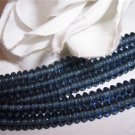 MONTANA BLUE Czech 4mm Rondell Beads  100pcs