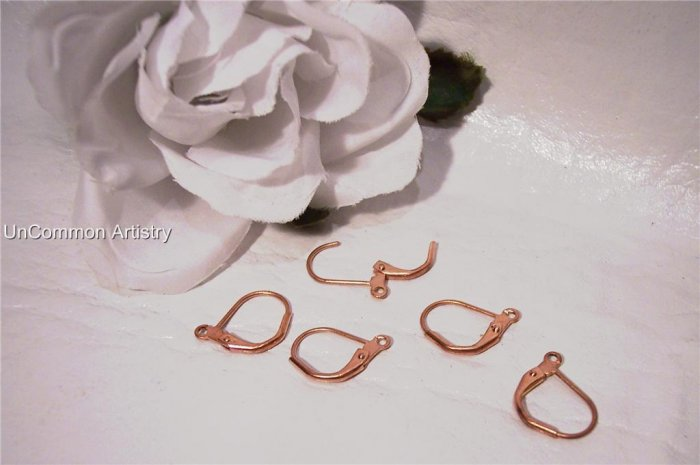 LEVER BACK Ear Wires Copper q.10