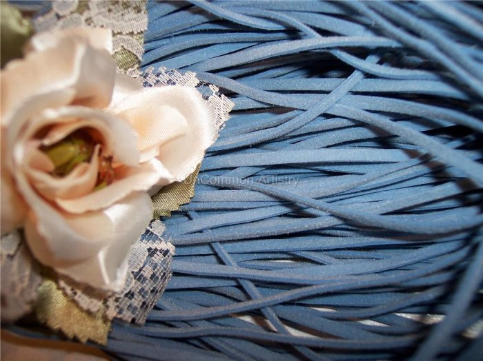 FAUX SUEDE Cord 1mm LIGHT BLUE 5 Meters