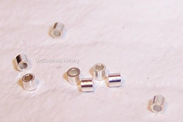 CRIMP BEADS 1x1 mm STERLING SILVER q.100