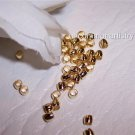 CRIMP BEADS 3mm GOLD PLATED q.100