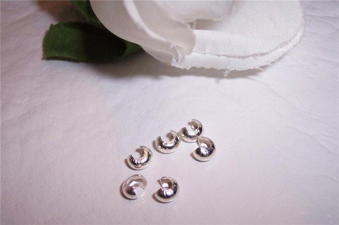 CRIMP COVERS Sterling Silver 4mm q.25