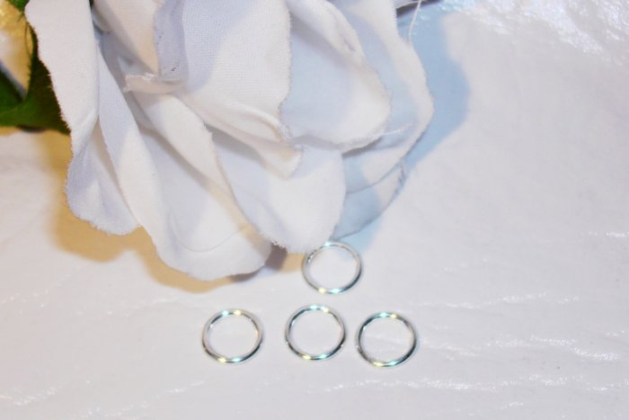 8mm OPEN Sterling Silver Jump Rings 18g. q.20