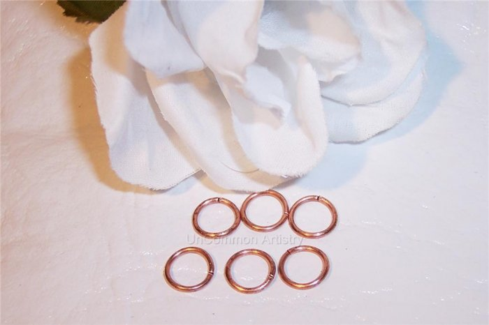 6mm OPEN COPPER Jump Rings 19g. q.50