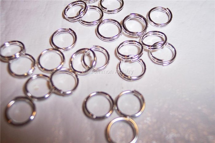 SPLIT Rings SILVER PLATED 6MM Q.100