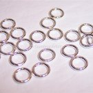 6mm CLOSED Jump Rings STERLING SILVER 18g. q.20