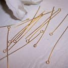 "2"" EYE PINS 22 Gauge GOLDPLATED q.100"