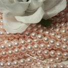 GLASS PEARLS Czech 6mm Round PINK ROSE q.100