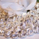 LASER CUT 6mm Round Beads STERLING SILVER q.10