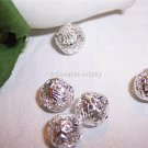 11mm FILIGREE Round Beads SILVER PLATED q.10