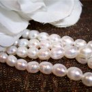 "Fresh Water RICE PEARLS 4-5mm WHITE 16"" Strand"