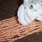 "Fresh Water Potato PEARLS 2-3mm APRICOT 16"" strand"