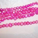 "Fresh Water NUGGET PEARLS 4-5mm HOT PINK 15"" Strand"