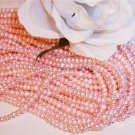 "Fresh Water Potato PEARLS 3-4mm BABY PINK 16"" strand"