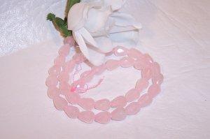 "ROSE QUARTZ Faceted  TEARDROP Shape Beads 16"" Strand"