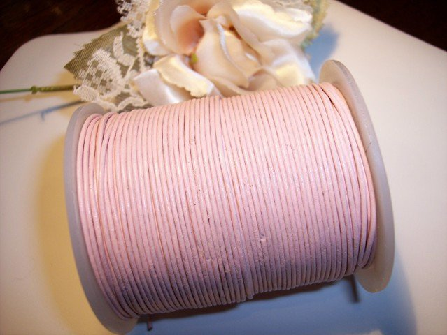 LEATHER CORD 1mm PINK 5 yards