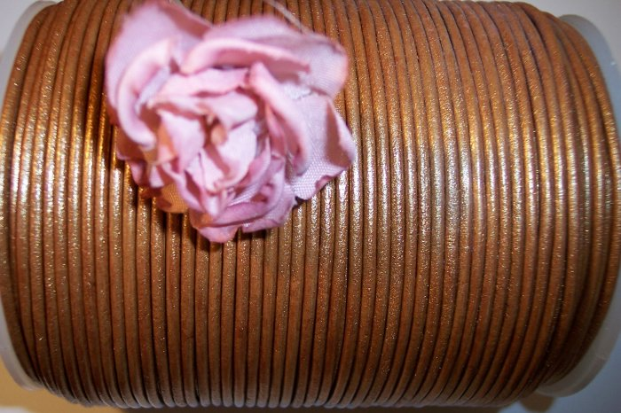 LEATHER CORD 2mm BRONZE 5 yards