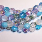 SERENITY MIX Czech Fire Polish  8mm Beads 50