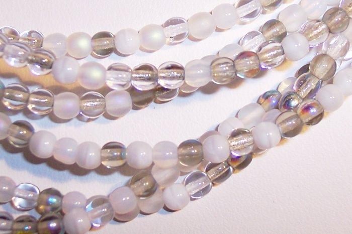 APPARITION MIX Czech DRUK  4mm Beads 100