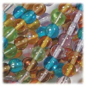 PRAIRIE MIX Czech DRUK  8mm Beads Q.25