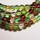 EARTH TONE MIX Czech DRUK  8mm Beads 50