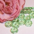 LIGHT GREEN Fire Polish 6x3mm Faceted Rondelles q.25