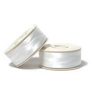 NYMO Nylon Beading Thread SIZE B WHITE 72 yards