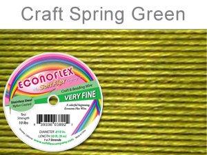 "SOFT FLEX EconoFlex Beading Wire 010"" 30 Ft  SPRING GREEN"