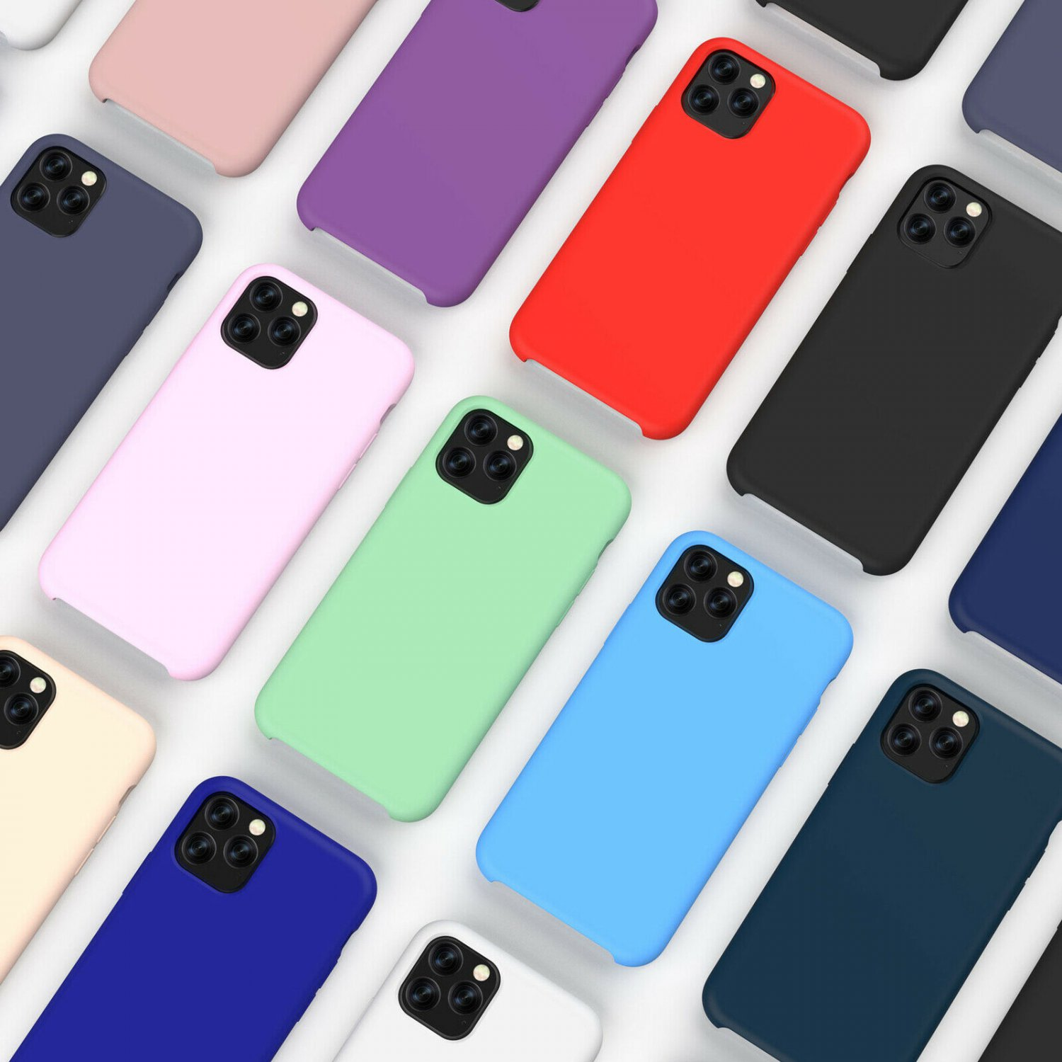 New Soft Liquid Silicone Shockproof Matte Back Case Phone Cover For Apple iPhone
