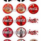 "Coca Cola 1"" Bottle Cap Images 4x6 Digital Sheet only"