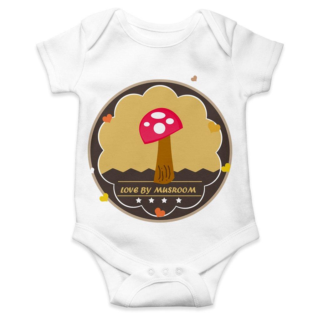 Love By Mushrooms Custom Onesie For Girl & Boy BodySuit  Baby Bodyvest Baby Bodysuit toddler Onesie