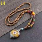 14 Wooden bead long necklace 51cm-80cm Costume jewelry ladies wooden beads long necklace