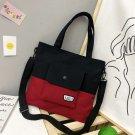 Women girl's canvas Travel, shopping, purse handbag shoulder bag .[Black and red colour]