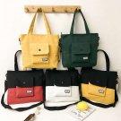 Women girl's canvas Travel, shopping, purse handbag shoulder bag [ yellow and black colour]