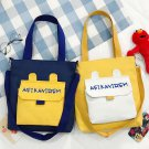 Creative alphabet bag vitality girl canvas cross body bag  girl shoulder bag pack of 2 pieces