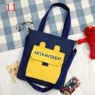 Creative alphabet bag vitality girl canvas cross body bag  girl shoulder bag pack of 2 pieces.