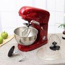 Kitchen Stand Mixer- Blender Kneading Baking Tilt-Head 5-quart 6 speed 110V red