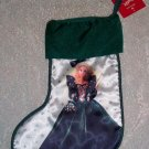 BARBIE 1995 GREEN CHRISTMAS STOCKING~LIKE NEW