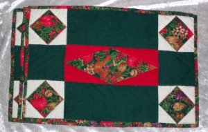 SET OF FOUR HANDMADE CHRISTMAS PLACEMATS