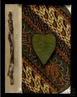Batik Heart Blank Journa l/ Notebook- HandCrrafted- New