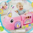 Fisher Price Laugh Learn Smart Stages Technology Crawl Around car PINK