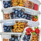 Glass Containers 5 Pack w/compartments
