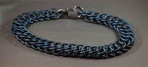 Cobalt Deep Blue Titanium Chainmaille Bracelet Very Unique Grade 5 Ti 6Al-4V Anodized