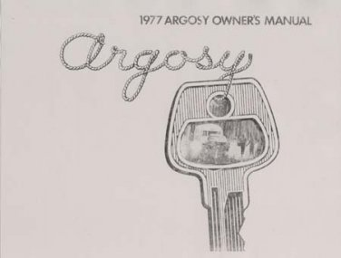 1977 Argosy Trailer Owners Manual by Airstream