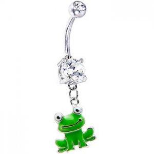 Smiling Frog Belly Ring